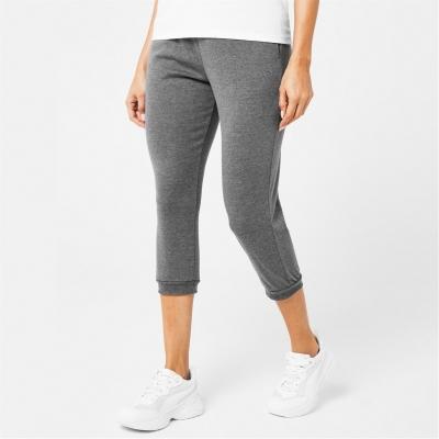 Pantaloni jogging LA Gear trei sferturi Interlock pentru Femei gri carbune
