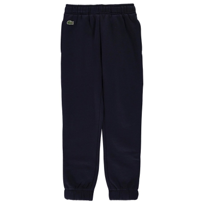 Pantaloni jogging Lacoste Basic cu mansete bleumarin