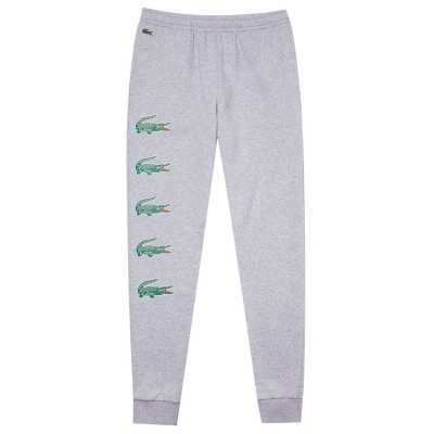 Pantaloni jogging Lacoste Leg Croc argintiu chine cca