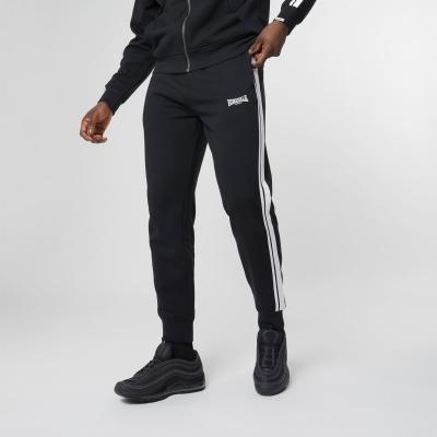 Pantaloni jogging Lonsdale 2 cu dungi pentru Barbati negru