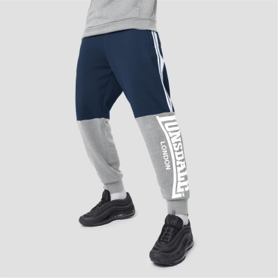 Pantaloni jogging Lonsdale Fully Loaded bleumarin gri