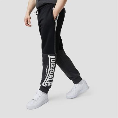 Pantaloni jogging Lonsdale Fully Loaded negru gri carbune