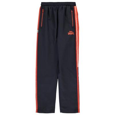 Pantaloni jogging Lonsdale Two cu dungi Woven pentru baietei bleumarin broran alb