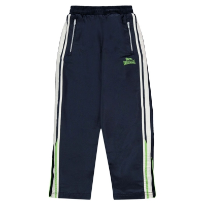 Pantaloni jogging Lonsdale Two cu dungi Woven pentru baietei bleumarin verde alb