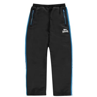 Pantaloni jogging Lonsdale Two cu dungi Woven pentru baietei negru brblue alb