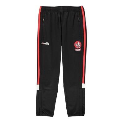Pantaloni jogging ONeills Derry GAA Juniors negru rosu alb