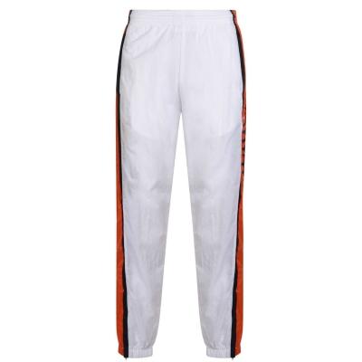Pantaloni jogging PERRY ELLIS cu dungi cu fermoar bright alb