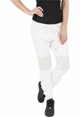 Pantaloni jogging scuba cu plasa la genunchi alb-murdar Urban Classics