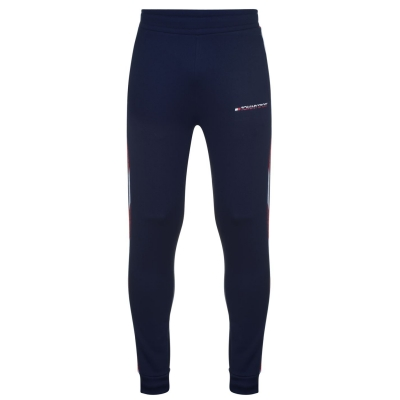 Pantaloni jogging Tommy Sport Cuff Tape bleumarin