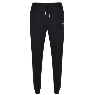 Pantaloni jogging True Religion Logo negru auriu smu