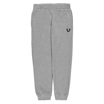 Pantaloni jogging True Religion Logo deschis gri