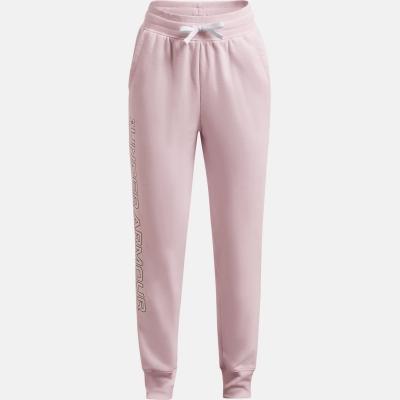 Pantaloni jogging Under Armour Rival pentru fetite cool roz