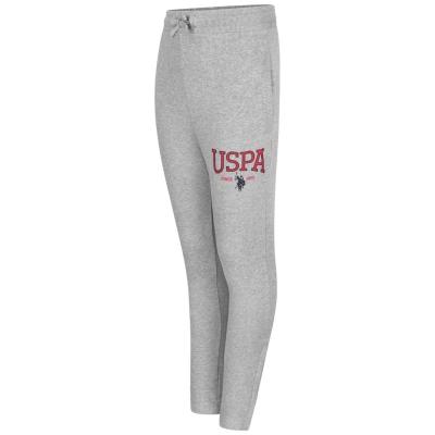Pantaloni jogging US Polo Assn Logo vintage gri