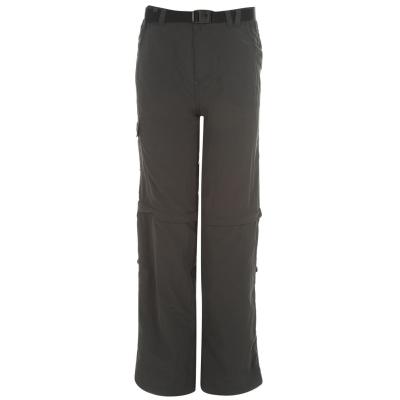 Pantaloni Karrimor Aspen cu fermoar Off pentru copii gri carbune roz