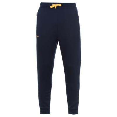 Pantaloni jogging KooGa cu mansete bleumarin galben