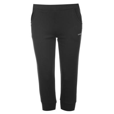 Pantaloni jogging LA Gear trei sferturi Interlock pentru Femei negru