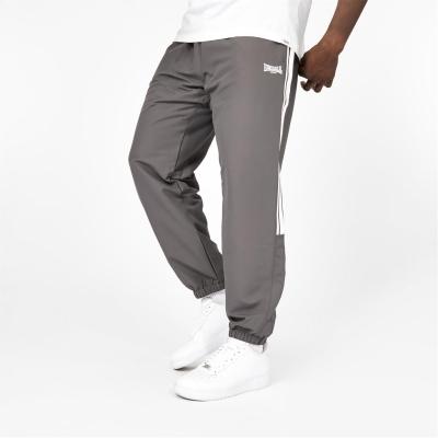Pantaloni Lonsdale 2 cu dungi CH Woven pentru Barbati gri carbune
