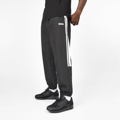 Pantaloni Lonsdale 2 cu dungi CH Woven pentru Barbati negru