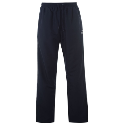 Pantaloni Lonsdale 2 cu dungi fara mansete Woven pentru Barbati bleumarin alb