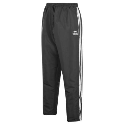 Pantaloni Lonsdale 2 cu dungi fara mansete Woven pentru Barbati gri carbune alb