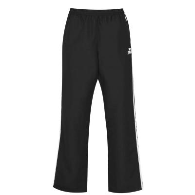 Pantaloni Lonsdale 2 cu dungi fara mansete Woven pentru Barbati negru gri carbune