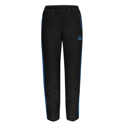 Pantaloni Lonsdale Two cu dungi cu mansete Woven pentru baietei negru brblue alb