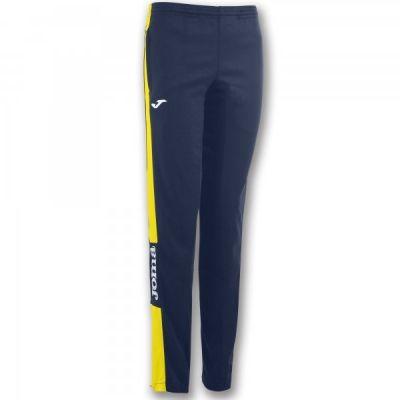 Pantaloni lungi Joma Champion Iv bleumarin-galben Stret pentru Femei