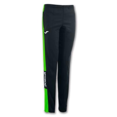 Pantaloni lungi Joma Championship Iv negru-fluor verde pentru Femei fosforescent