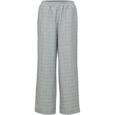 Pantaloni lungi Selected Femme Selected Check gri