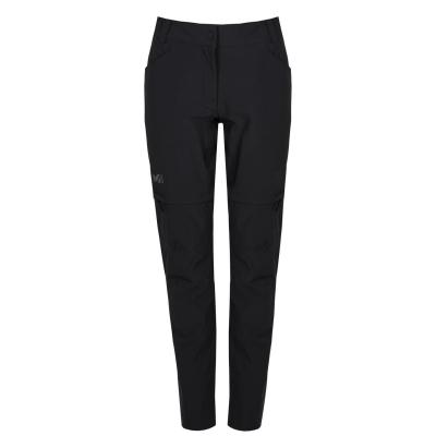 Pantaloni Millet Trekker Walking pentru Femei negru