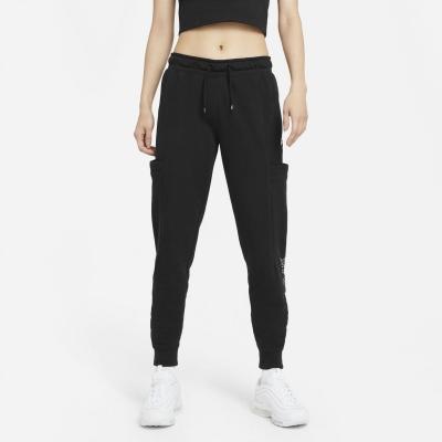 Bluze Pantaloni jogging Nike Air pentru Femei negru alb