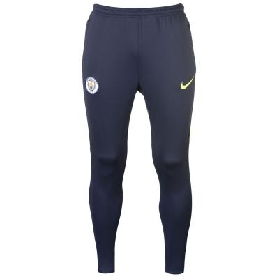 Pantaloni Nike Manchester City Squad 2018 2019 pentru Barbati bleumarin galben