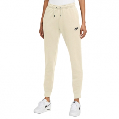 Pantaloni Pantaloni Nike NSW Essentials FLC MR RG bej BV4095 113 pentru femei