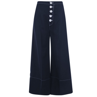Pantaloni Perseverance Flared bleumarin
