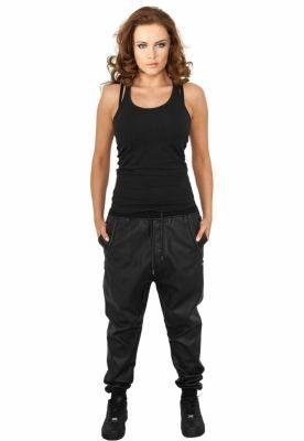 Pantaloni piele ecologica dama negru Urban Classics