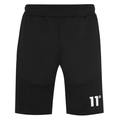 Pantaloni scurti 11 Degrees Side Poly negru