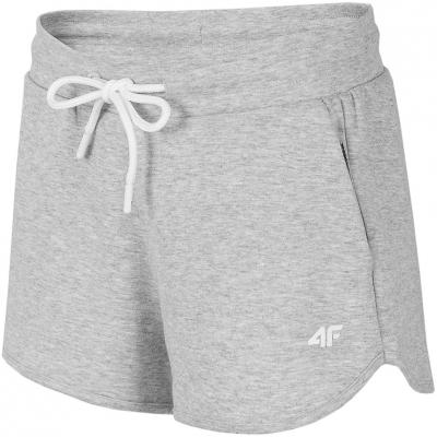 Pantaloni scurti 4F Cool gri deschis Melange H4L21 SKDD015 27M pentru femei