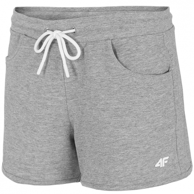 Pantaloni scurti 4F Cool gri deschis Melange NOSH4 SKDD001 27M pentru femei