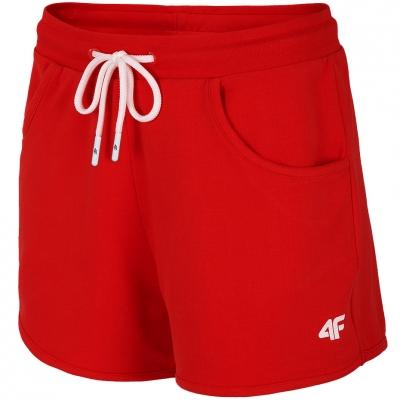 Pantaloni scurti 4F rosu NOSH4 SKDD001 62S pentru femei