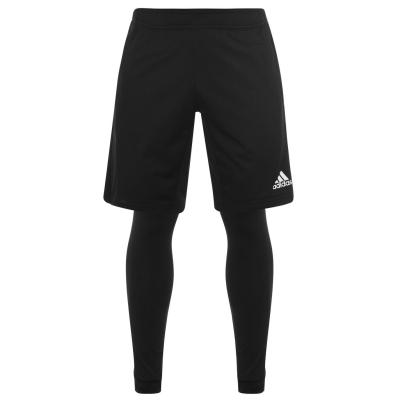 Pantaloni scurti adidas 2in1 pentru Barbati negru alb