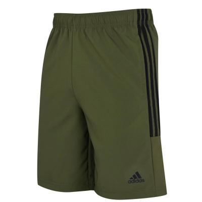 Pantaloni scurti adidas 3-Stripes pentru Barbati kaki negru