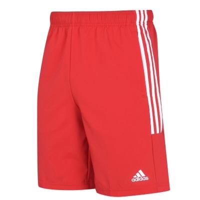 Pantaloni scurti adidas 3-Stripes pentru Barbati rosu alb