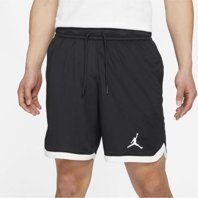 Pantaloni scurti Air Jordan Dri-FIT Air tricot pentru Barbati negru alb