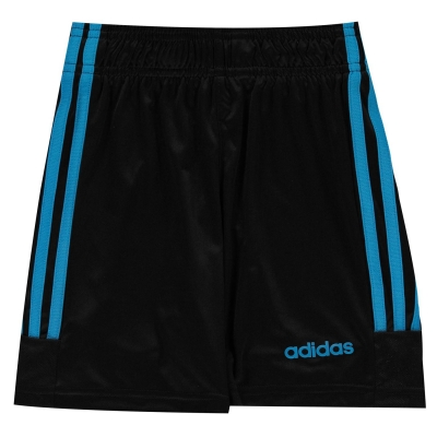 Pantaloni scurti antrenament adidas Sereno Juniors negru solblue