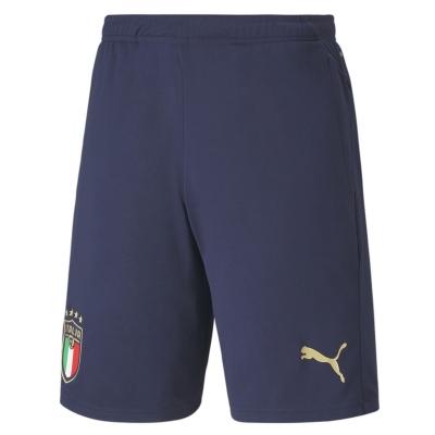 Pantaloni scurti antrenament Puma Italy fotbal albastru