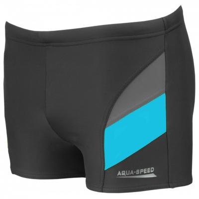 Pantalon scurt inot AQUA-SPEED ANDY gri-albastru 32 349