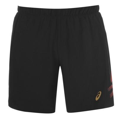 Pantaloni scurti Asics Icon pentru Barbati negru rosu