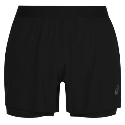 Pantaloni scurti Asics Road 2in1 pentru Barbati negru