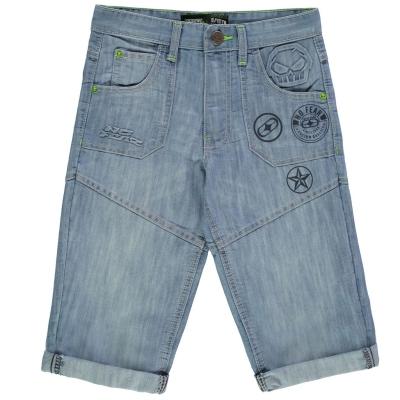 Pantaloni scurti No Fear Badge pentru baietei deschis wash