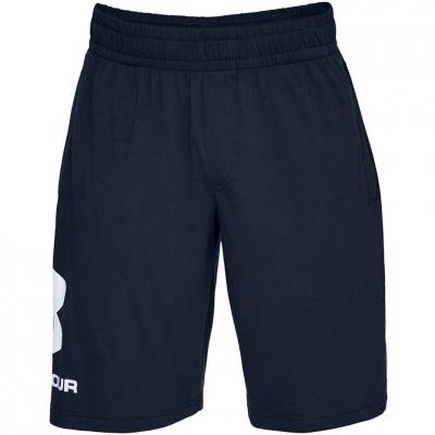 Pantaloni scurti barbati Under Armor Sportstyle bumbac Logo bleumarin 1329300 408